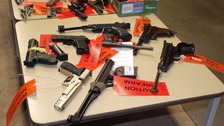 These weapons were handed in recently in Cumbria
