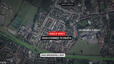 The man was stabbed to death in Stevenage