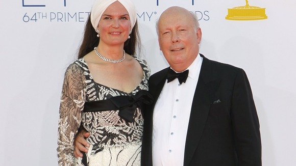Downtown Abbey creator Julian Fellows and his wife Emma.