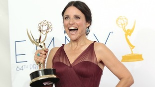 Julia-Louis Dreyfus with her Emmy