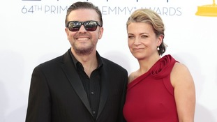 Ricky Gervais and partner Jane Fallon.