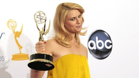 Actress Clare Danes with her outstanding actress in a drama series Emmy