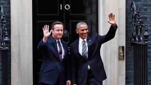 Barack Obama has called on Britain to remain in the EU, saying the institution magnify's the UK's influence across the world.