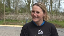 Claire Lomas is determined to defy the charity run ban