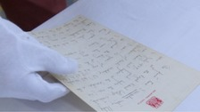 A rare letter written by the Queen describing her courtship with the Duke if Edinburgh is being auctioned in Chippenham.