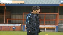 Braintree Town manager Danny Cowley and assistant Nicky, his brother