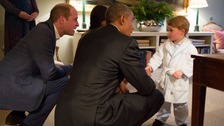 Prince George thanks Barack Obama for his rocking horse, given to him when he was born