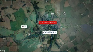 The car was taken from a house in Coggeshall in Essex