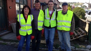 Volunteers in high vis