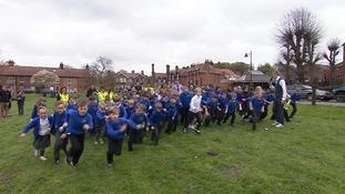 Primary school pupils complete marathon challenge