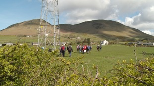 Walkers say no to pylons in the Lake District