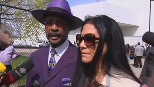 Sheila E (right) and bassist Larry Graham (left) were also among the mourners