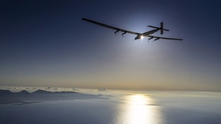 Solar-powered plane completes three-day flight to US