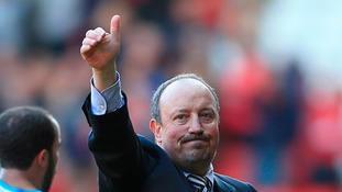 Benitez gives a thumbs up
