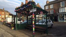 Secret Yarnbombers decorate Thirsk for Tour de Yorkshire