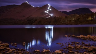 Lighting up Catbells for Nepal