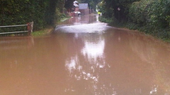 Flooding in Herefordshire causes disruption to travel.
