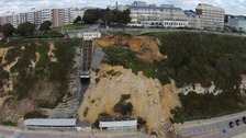Cliff fall: Toilets and lift damaged on Bournemouth seafront