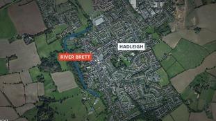 The man fell into the River Brett in Hadleigh