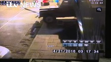 WATCH: Ram raiders caught on camera as they smash through store front