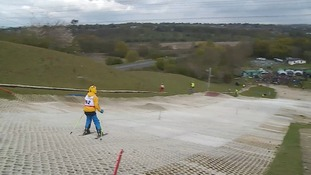 The ski slope at Wherstead near Ipswich