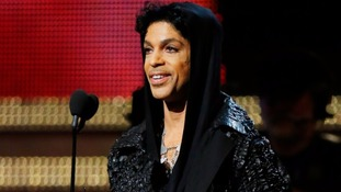 Prince at the Grammys in 2013