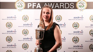Sunderland striker Beth Mead has been named in the PFA Women's Super League team of the year.