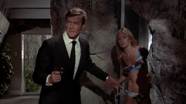 Roger Moore and Britt Ekland in &quot;The Man With The Golden Gun&quot;.