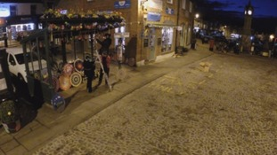Yarn bombers work through the night to transform Thirsk.