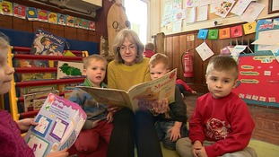 Reading session at Owlets Pre-school in Langford