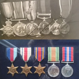 Two sets of medals were stolen from the property