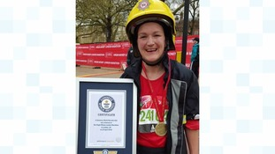 Somerset firefighter fastest woman to run marathon in fire-fighting kit