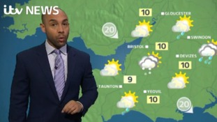 Alex Beresford with the weather