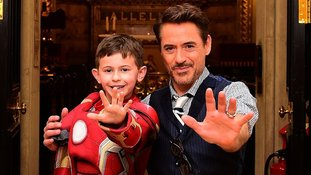 Iron Man thrills children with surprise visit