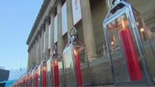 Lanterns lit for Hillsborough victims in Liverpool
