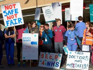 Junior doctors strike in Bristol.