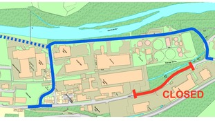 Diversion routes in place for Selkirk flood protection scheme