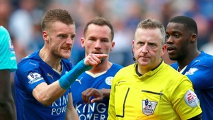 Jamie Vardy will miss Leicester's crucial game at Old Trafford