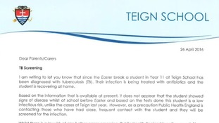 The headteacher of Teign School wrote to parents