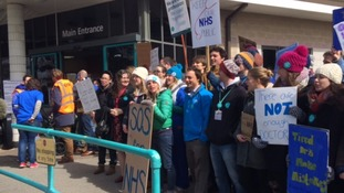Junior doctors walk out in first all-out strike