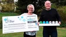 Derek Daniels and his daughter Lorraine Daniels win £729,026.