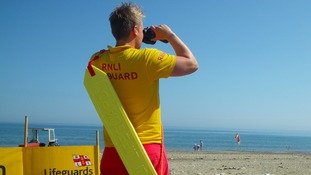 RNLI lifeguards on beach patrol over Bank Holiday weekend