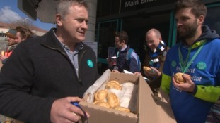 Junior doctors in Cornwall brought pasties on the picket line