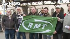 RMT union stands firm as rail strike begins to bite