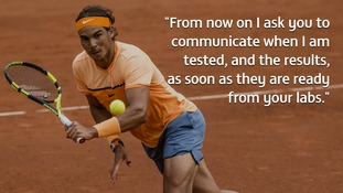 Rafael Nadal pens letter ITF asking for all his drug test records to be made public