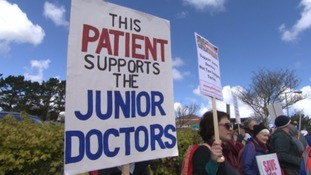 Junior doctors in the West Country begin second day of all-out strike