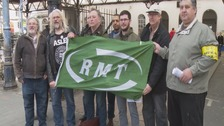 RMT picket line
