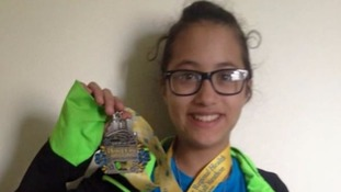 LeeAdianez Rodriguez thought she was running 5km, but ended up completing a half marathon