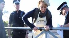 Celebrity protestors get onto potential fracking site