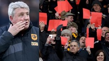 Steve Bruce said he was 'disappointed' at the protest